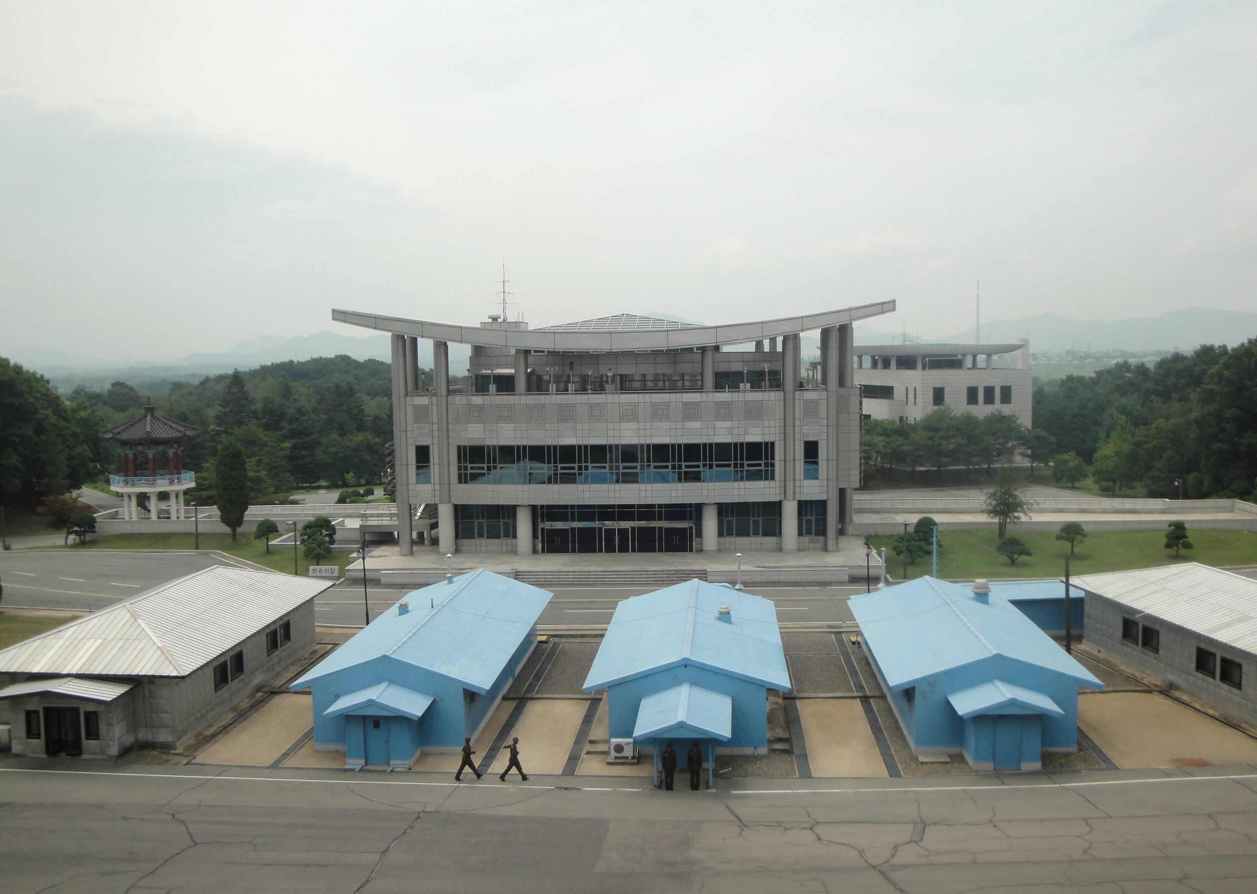 View of Freedom House Pagoda and Joint Security Area from North Korean side