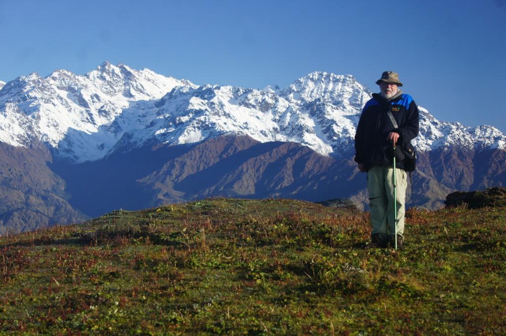 Dr. Beaderstadt in the Kathmandu Valley
